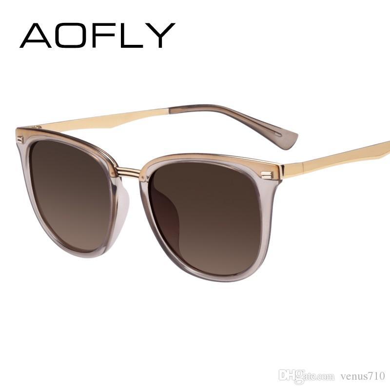 27aec70e6cff2 Compre AOFLY Moda Mujer Gafas De Sol Polarizadas Vintage Mujer Diseñador  Shades Gafas Accesorios Gafas De Sol De Conducción AF7968 A  23.0 Del  Venus710 ...