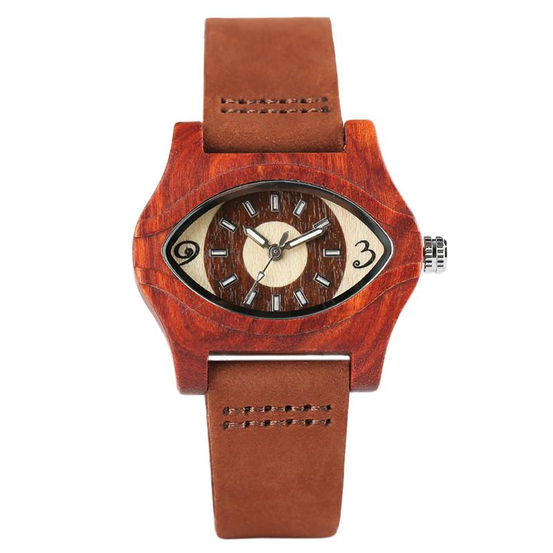 53c9ec168f2 Ristwatch Quartz Watch Turkish Evil Eye Bracelets Wooden Watches Women  Female Genuine Leather Ethnic Vintage Quartz Watch Woman Men Bambo... Wrist  Watch ...