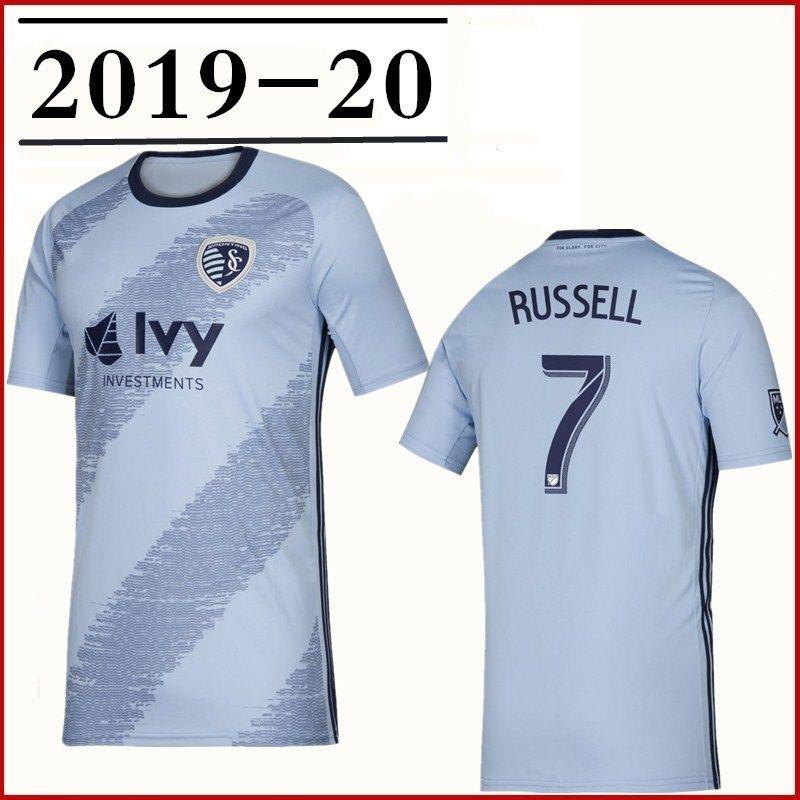 2019 Kansas City Soccer Jersey home 19 20 ZUSI BESLER RUSSELL ILIE ZUSI  ZELALEM SALLOI Football shirt