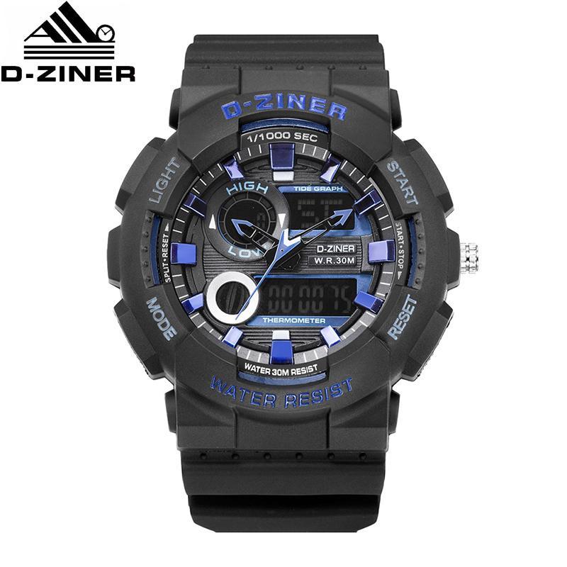 Herrenuhren 2019 Luxus Männer Analog Digital Military Armee Sport Led Wasserdichte Armbanduhr Mode Lässig Elektronische Kleidung Uhr Uhren