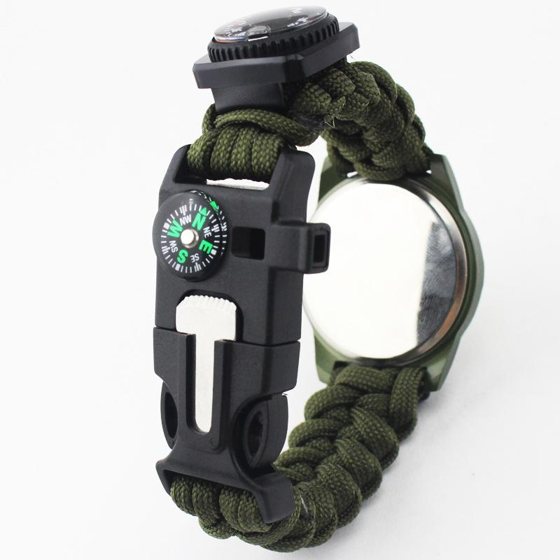 Outdoor camping survival tools Camping Medical Multi-functional Compass Thermometer Rescue Paracord Bracelet Equipment Tools kit (16)