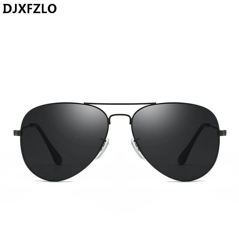 8d4b12411523 DJXFZLO Classic Sunglasses Women Men Brand Designer Pilot Driving ...