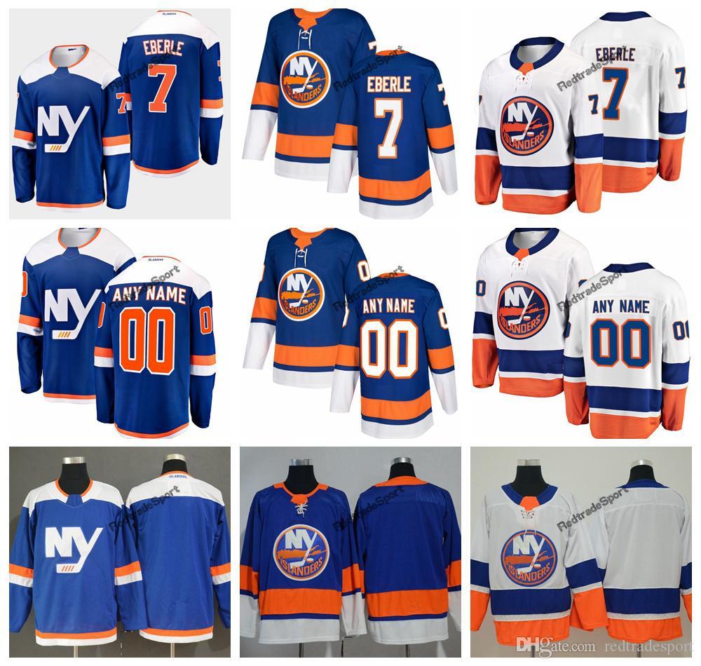 new product 41b81 827f9 2019 Eberle New York Islanders Hockey Jerseys Mens Custom Name Alternate  Blue Home #7 Eberle Stitched Hockey Shirts S-XXXL