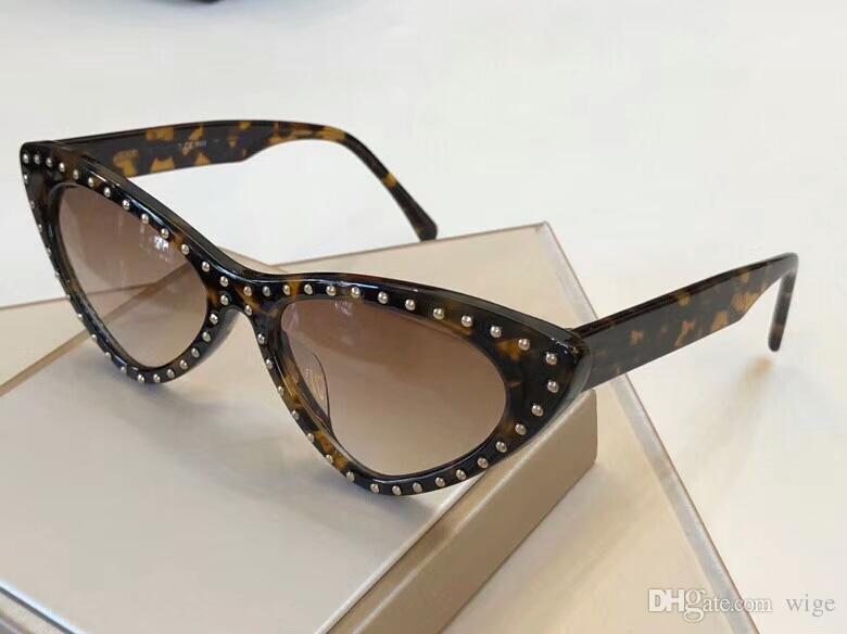 ac148793eb Havana Brown Studs Cat Eye Sunglasses 006 S Women Designer Sun Glasses  Eyewear New With Box Round Glasses Designer Glasses From Wige