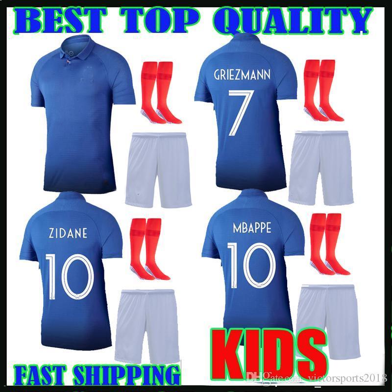 49e704b6522 Kids Kit France 1919-2019 Special Edition Centenary Soccer Jersey ...