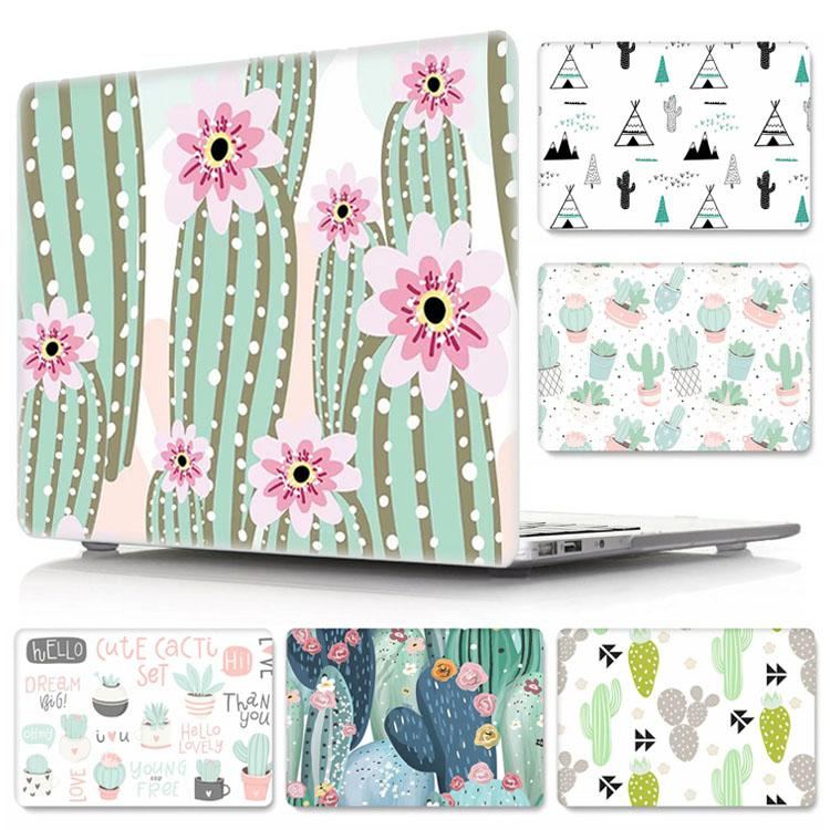 Fashion Cactus Design PC Case for Macbook Air 11.6 13.3 Pro 13.3 15.4 Retina 12 13 15