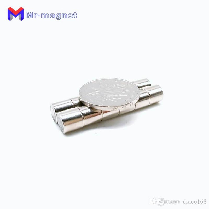 2019 imanes 50pcs 8x8 Neodymium Magnet 8x8mm N35 Ndfeb Permanent Small Round Super Powerful Strong Magnetic New Refrigerator Disc Magnets