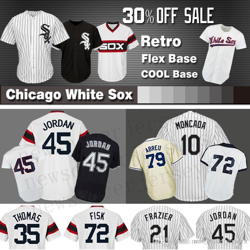 2188ce707 2019 8 Bo Jackson 10 Yoan Moncada Chicago White Jersey 45 Michael Sox 21  Todd Frazier 35 Frank Thomas 79 Jose Abreu Jerseys From New style jerseys