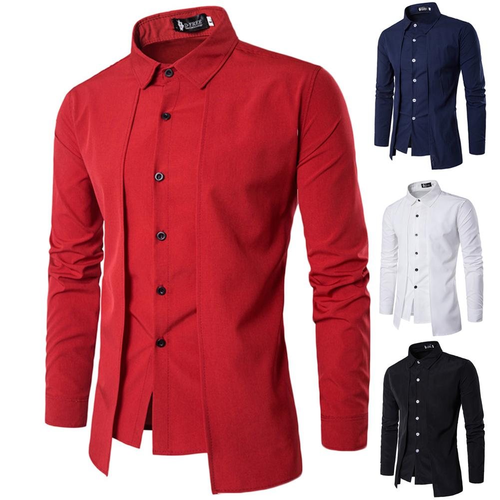 3296a9356285 2019 2019 New Style Fashion Hot Men'S Slim Fit Luxury Stylish Long Sleeve  Cotton Fashion Casual Dress Shirt S Solid Tops From Cactuse, $40.31 |  DHgate.Com