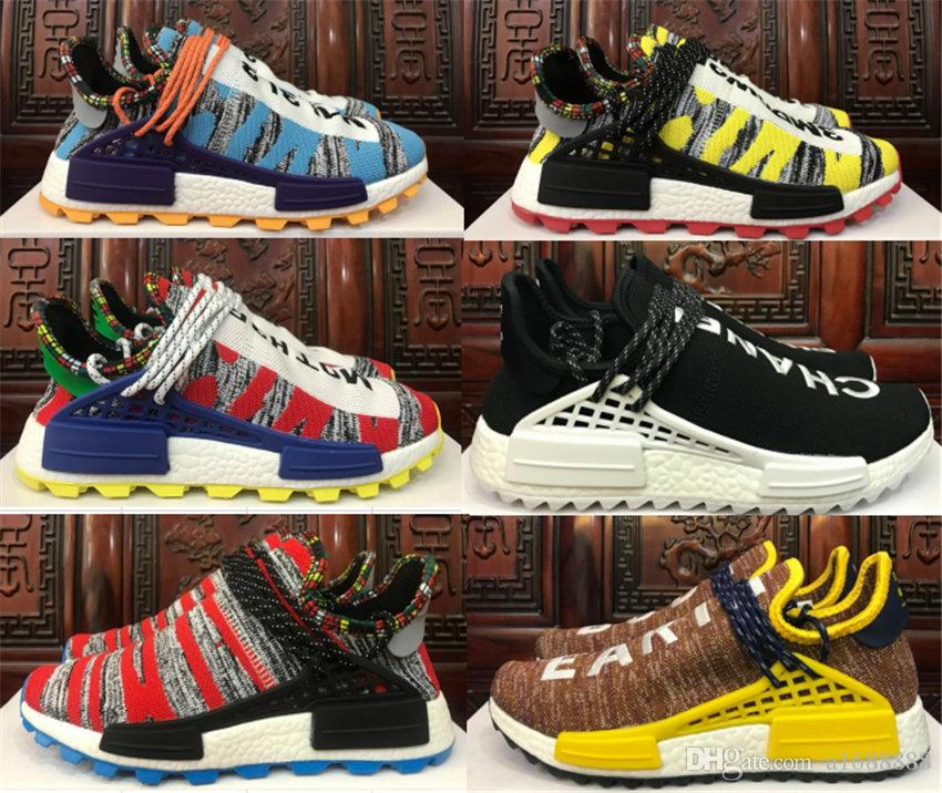 b450be269 2019 Human Race NMD Running Shoes Pharrell Williams Hu Trail Oreo ...