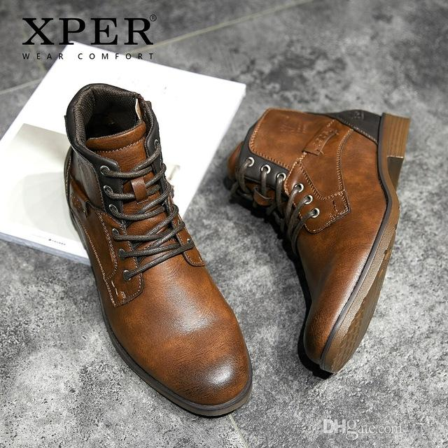 611d60b3cafa0 XPER 2019 Spring New Arrivals Fashion Ankle Boots Men Upgrade Motorcycle  Boots Wear Comfort Light Winter Shoes Army #XHY12504LG