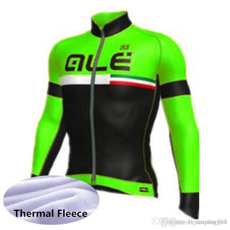 f7cce6283 ALE 2019 Pro Team New Men Winter Thermal Fleece Manga Larga Ciclismo Jersey  Ciclismo Ropa Bicicleta Bicicleta Ropa Use Camisa 122025L Por  Lvjianpingguo