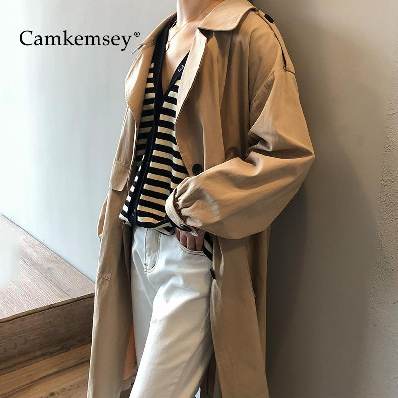 64c1fdcd6b 2019 CamKemsey Women Trench Coats 2019 Spring Autumn Long Sleeve Fashion  Big Pockets Casual Cotton Long Cargo Trench Coat From Buttonline, $67.81 |  DHgate.