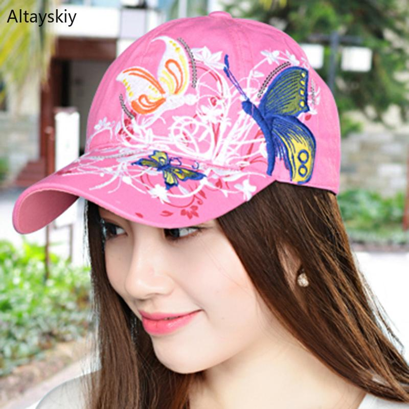 1dd3a0dfcb5 Baseball Caps Women Embroidery Outdoor Sun Shade Adjustable Floral Colorful Womens  Cap Trendy All Match Korean Style Chic Ladies Baseball Hat Hat Store From  ...