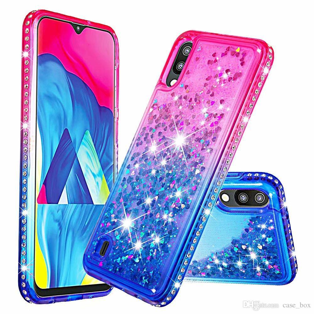 For Huawei Y6 Pro 2019 P Smart Honor 10 Lite P30 Nova 4 V20 Case Glitter  Quicksand Liquid Sparkle Shiny Bling Diamond Cover
