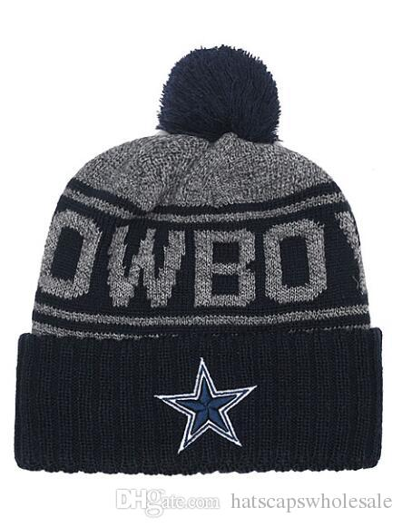 87e3390b2b1d48 2019 Men Women One Size Knitted Beanie Hats Dallas Cowboys Sports Skullies  Beanies Brand Name Hip Hop Street Fashion Beanie From Hatscapswholesale, ...