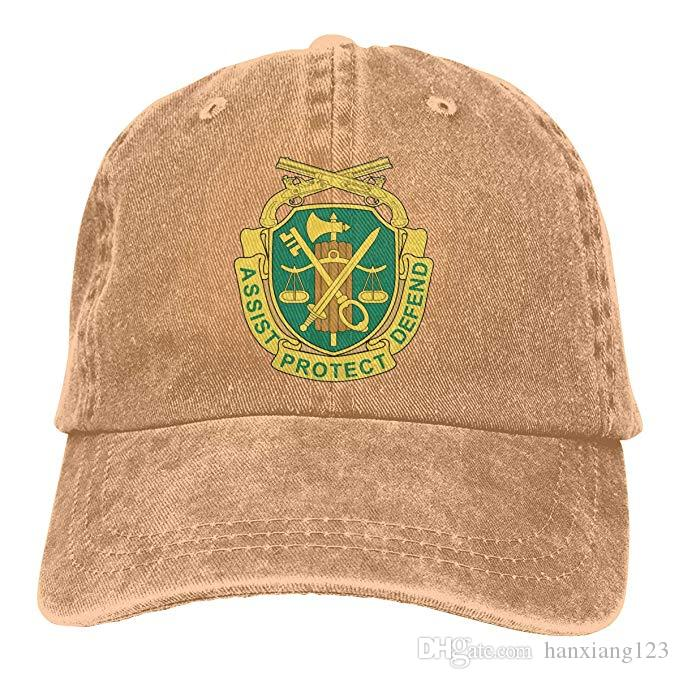 0e5277d1117 2019 2019 New Custom Baseball Caps US Army Military Police Corps Insignia  Mens Cotton Adjustable Washed Twill Baseball Cap Hat From Hanxiang123