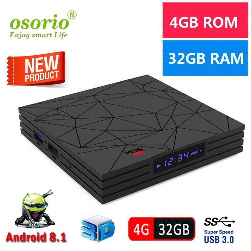Genuine M9S Y2 TV Box Android 8 1 Rockchip RK3328 4GB 64GB 32GB USB3 0 2 4G  Wifi Quad Core Media Player Smart IPTV BOX Better T95Z MAX H96