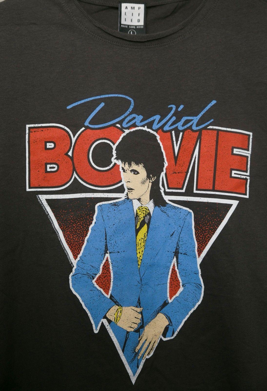 5a2da911 AMPLIFIED T-Shirt DAVID BOWIE BOOTLEG Charcoal Men Women Unisex ...