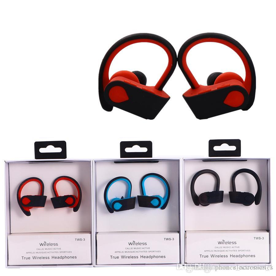TWS S-3 Wireless Earphone 5.0 bluetooth sport stereo headphone True sound wirelss Blutooth erphone for iphone