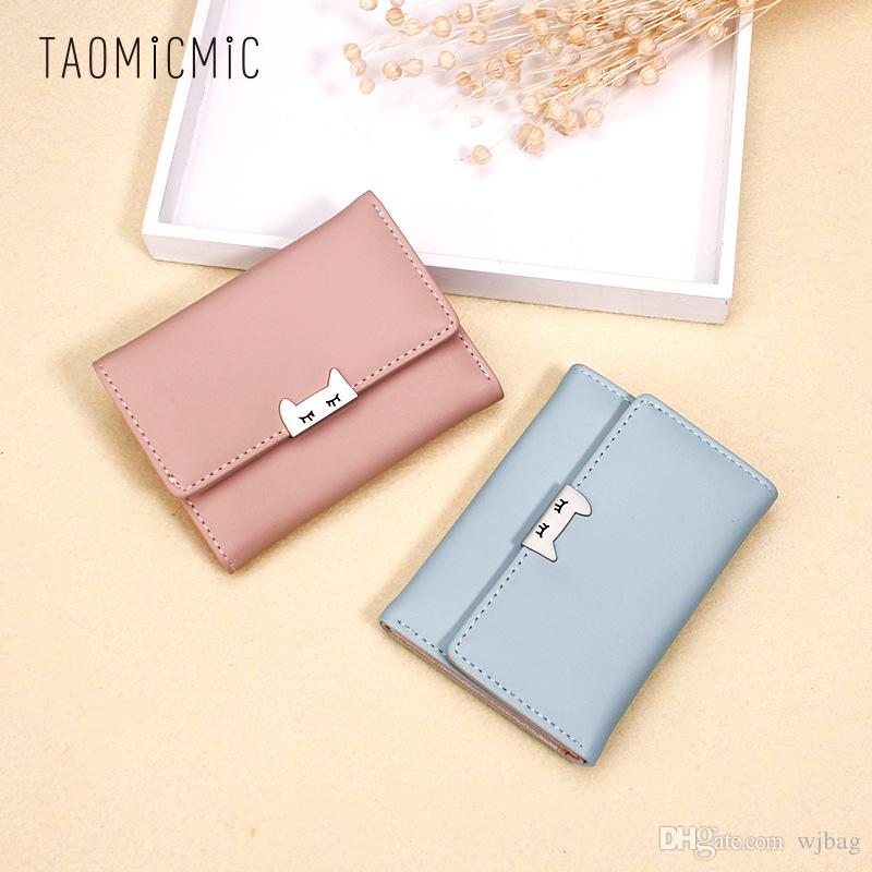Women Wallet Lovely Short Paragraph Zipper Hasp Purse Small Clutch Fashion  Buckle PU Female Wallets Card Holder Coin Purse UK 2019 From Wjbag 69930b3bfd53