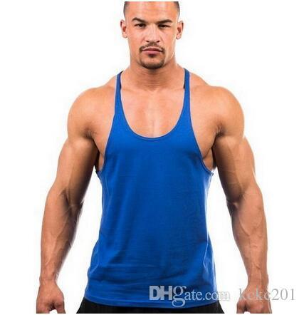 1ba1eceeb16a6c 2019 NEW Cotton Men Gym Tank Top Mens Bodybuilding Stringer Tops Undershirt  Fitness Vest Muscle Sleeveless Singlet Racerback Top From Kckc201