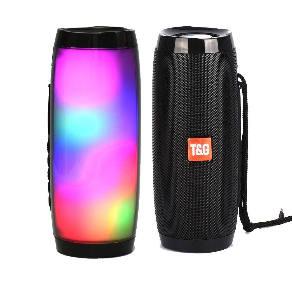 TG157 LED Subwoofer 10W Stereo B Column Wireless Bluetooth Speaker on