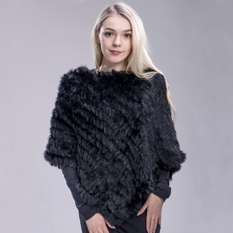 6a221ae8b ZDFURS* Spring Autumn Genuine Real Knitted Rabbit Fur Poncho Wrap Scarves  Women Natural Rabbit Fur Shawl Triangle Cape White Scarf Green Scarf From  ...