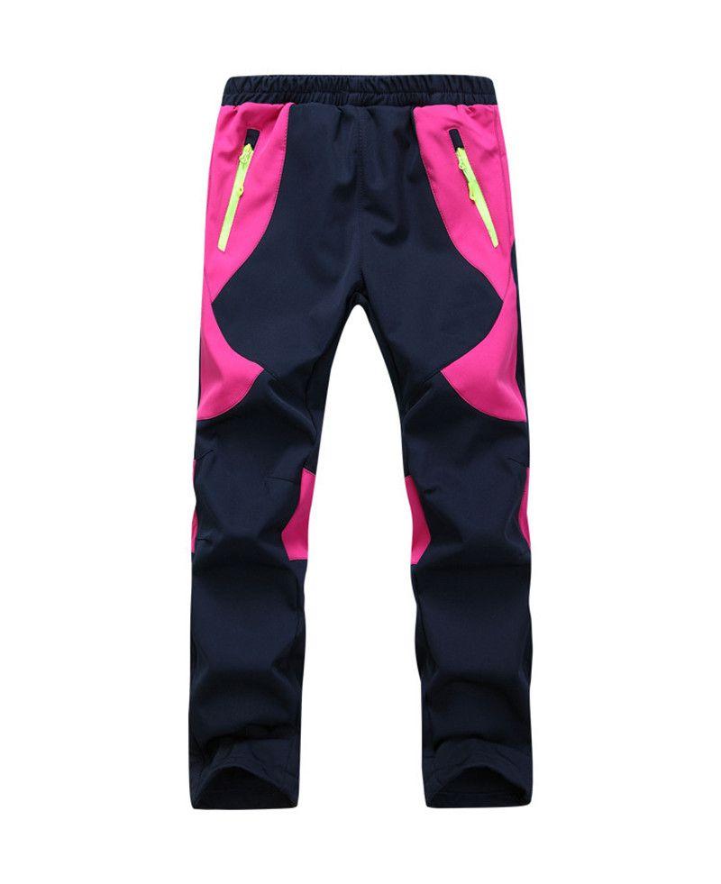 Kids Fleece Ski Pants Camping Hiking Climbing Combat Trousers Boys Girls  Outdoor Windproof Waterproof Keep Warm Pants Bogners Children XS2XL Cargo  Pants For ... a45b5481f