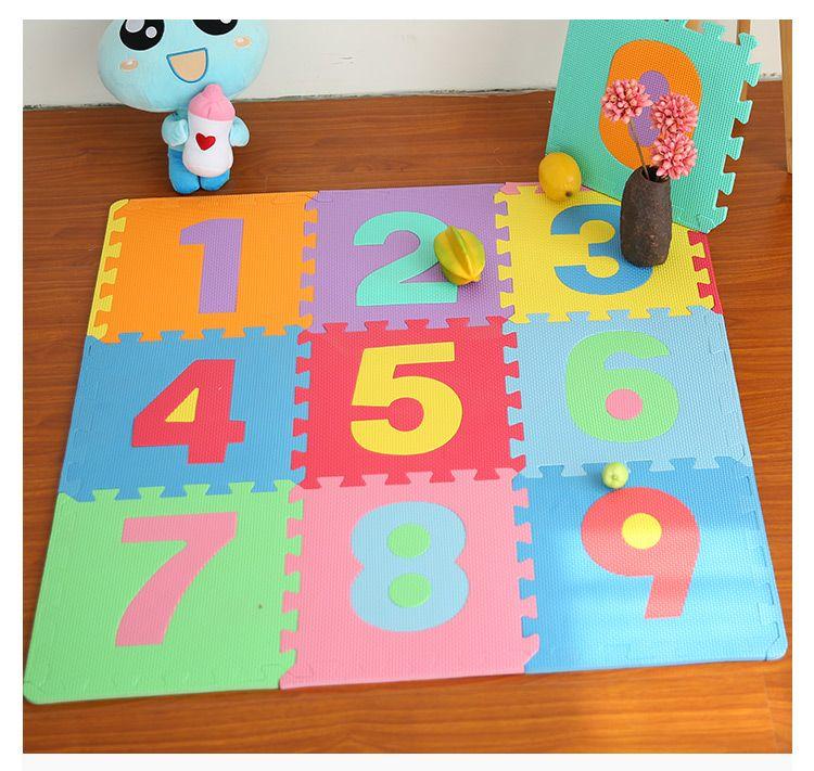 Baby Eva Foam Play Puzzle Mat Number 0 9 Interlocking Floor Mat