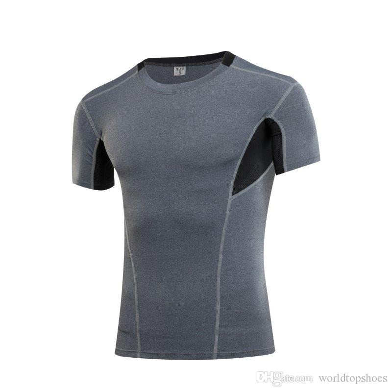 730bf32b4b63a Print Men Athletic Running Gym Short Sleeve Tops Tees Apparel Sport T-Shirt  Quick Dry Fitness #256597