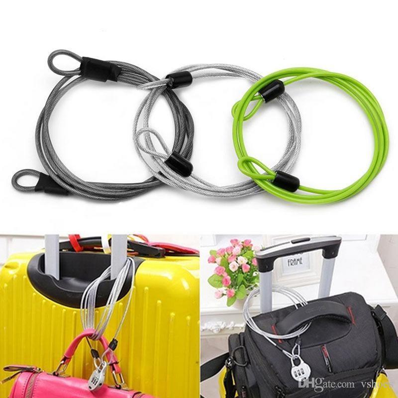 Radfahren Sicherheitsschleife 2m Kabelschloss Fahrrad Roller mit Codierten W W0
