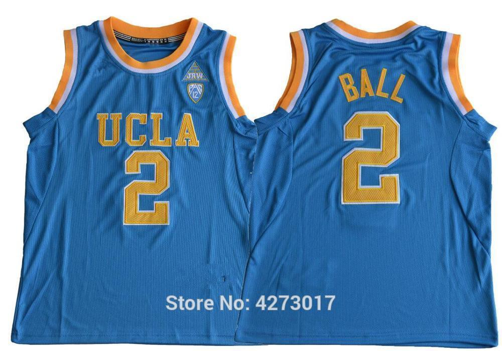 56110b11e 2019 UCLA Bruins Basketball 2 Lonzo Ball College Jerseys Man Blue White  Yellow Stitched Color For Sport Fans Wholesales NCAA From Hytopjersey