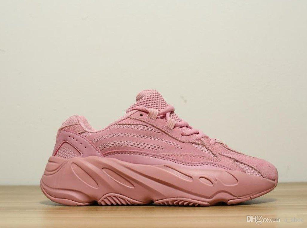 5ca3ae11a4b 700 V2 Pink Running Shoes Womens Girls 2019 700 V2 Pink Sneakers Size 5 8  With Box UK 2019 From A shoe