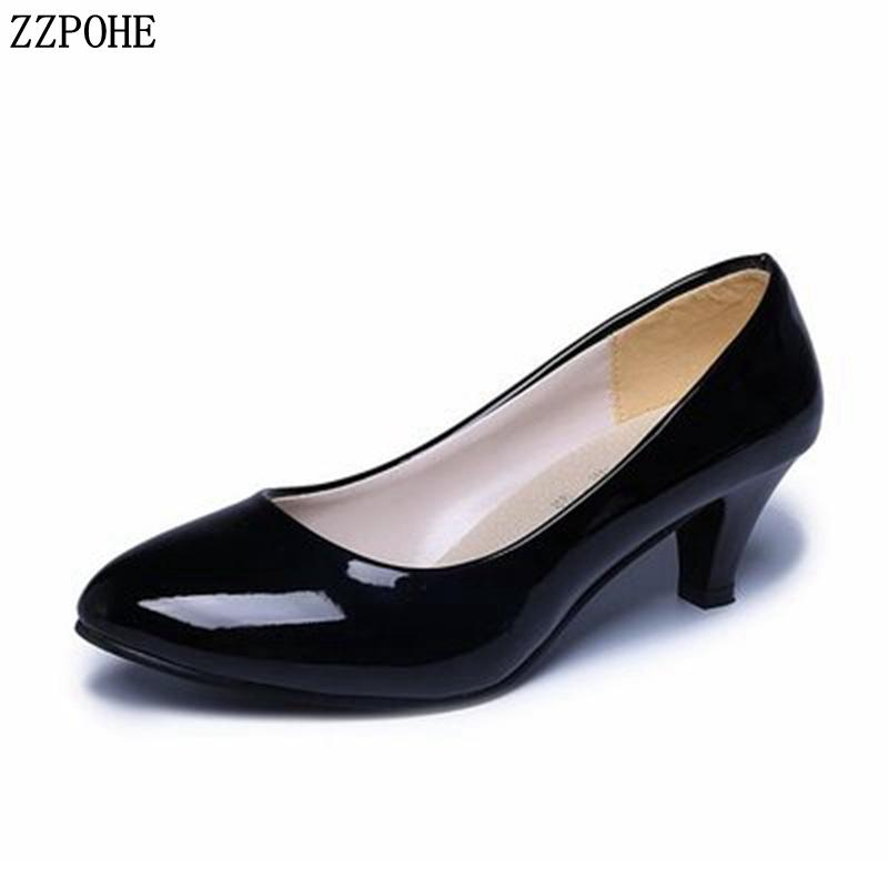 a57ee1b2ef Designer Dress Shoes Women Pumps Spring Autumn Woman High Heels Lady  Leather Round Toe Office Women'S Wedding Party Pumps Formal Shoes Cheap  Shoes For Women ...
