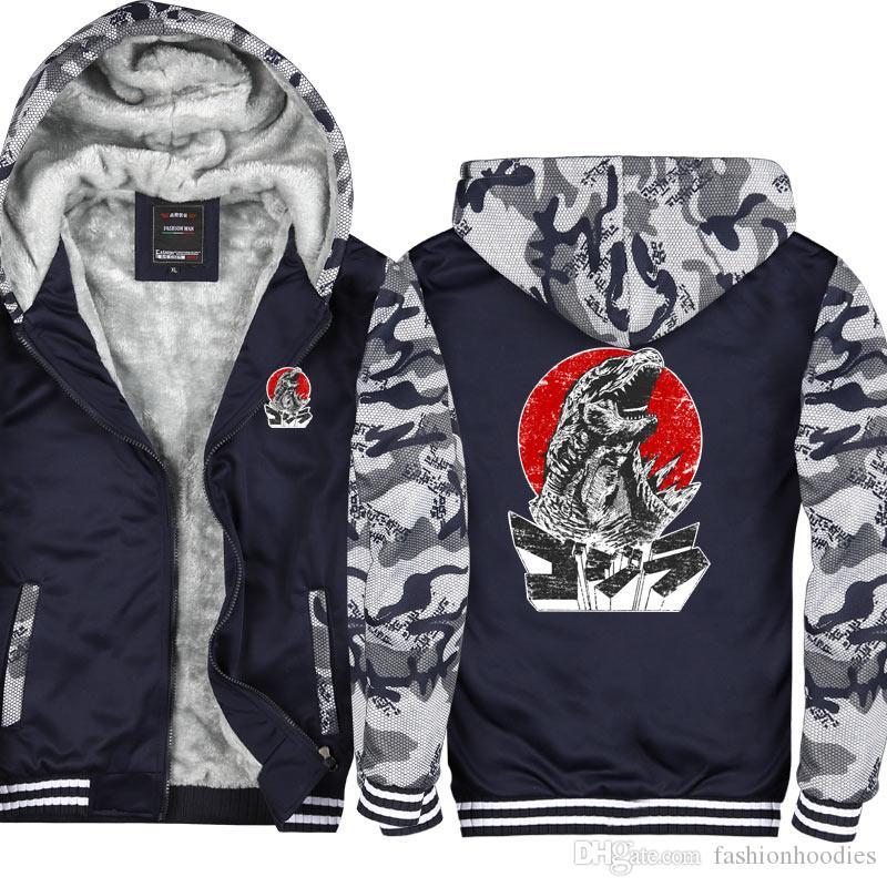 25122c9506f Grasse Hoodie 2019 Zipper Jacket Camouflage Coat Winter Fleece ...