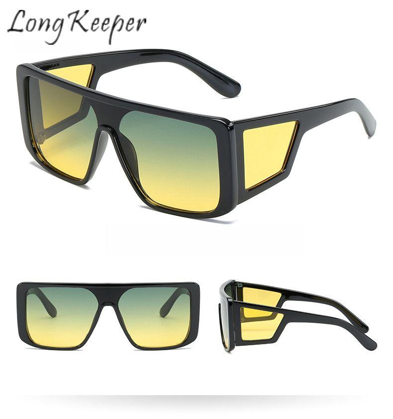 4c244e7813 LongKeeper Sunglasses Women Men Day Night Vision Sun Glasses Square Mirror  Eyeglasses Eyewear PC HD Len UV400 Shade Driving Mens Eyeglasses Sport  Sunglasses ...