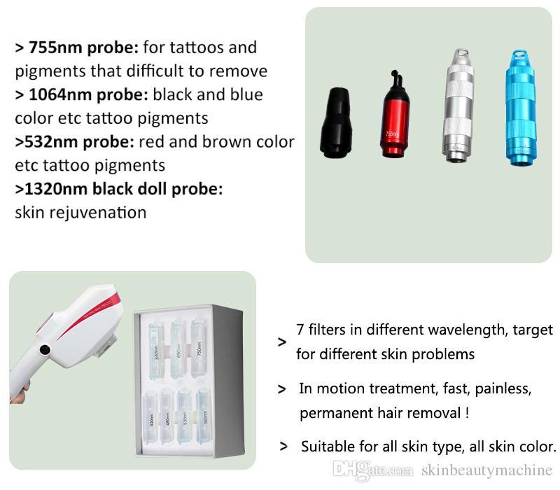 2021 Portable Picosecond Laser Machine Pigment Spot Removing SHR IPL Yag Lazer Hairs Tattoo Removal Pico Lasers Device