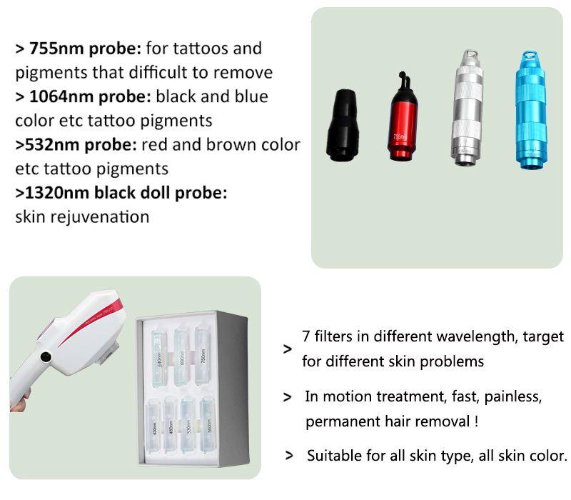 3 IN 1 SHR IPL laser hair removal IPL Elight Skin Tightening Machine Picosecond Laser Tattoo Removal OPT SHR Hair Removal Machines