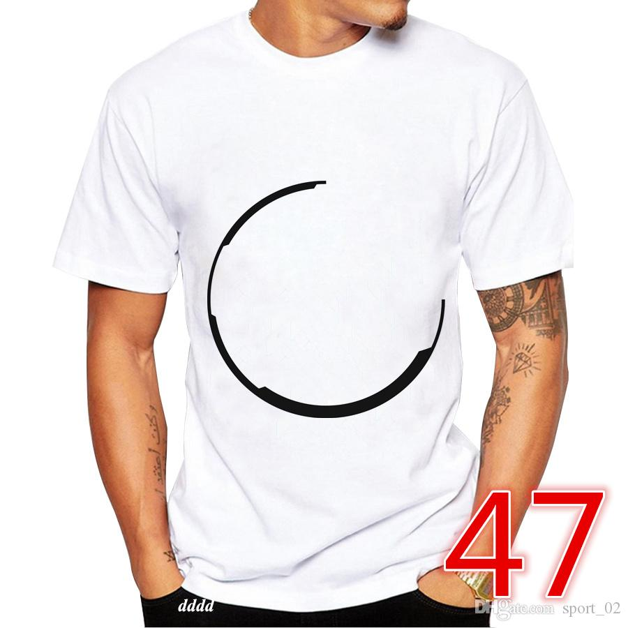 efa22ddc80b 2018 Summer New Youth Men Women T-shirt Fashion Outdoor T Shirt Size S-3XL  White Short DFFSELGGBSB 000020047 47 Online with $18.7/Piece on Sport_02's  Store ...