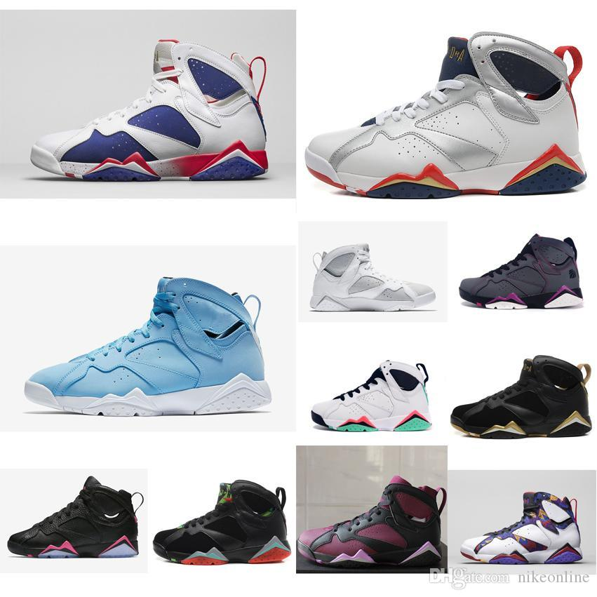 64c6426ab7c6e5 2019 Cheap Womens Jumpman 7 VII Basketball Shoes 7s Olympic Gold Moments  Black Youth Kids Boys Girls J7 Air Flights Sneakers Boots For Sale From  Nikeonline