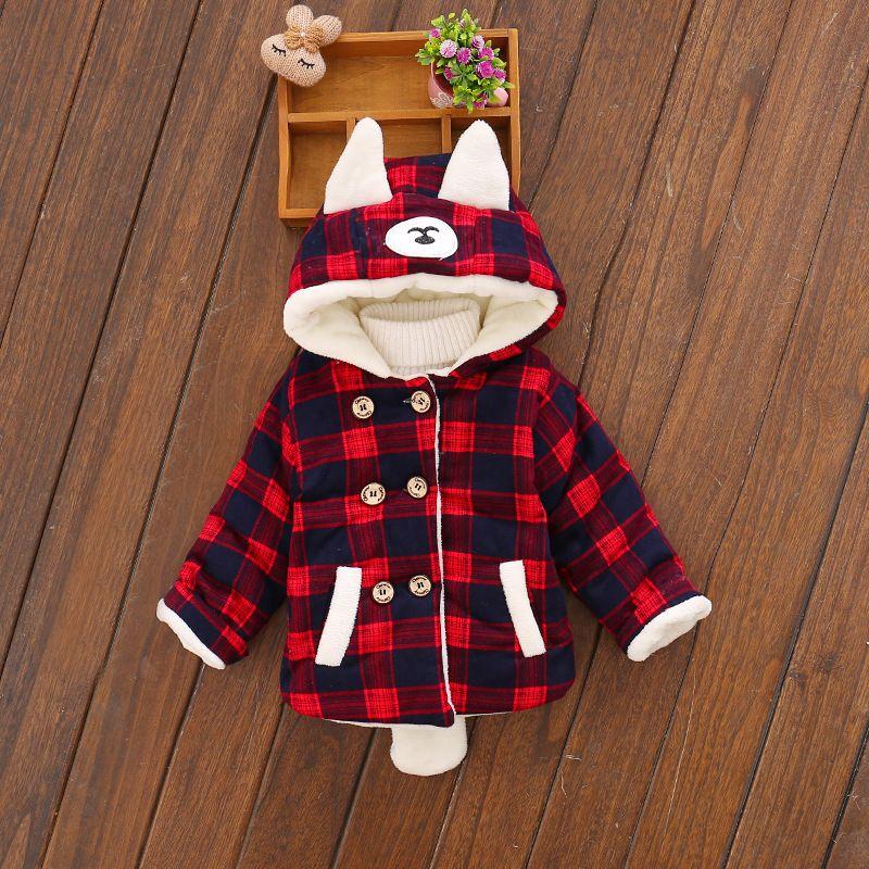f05b966bf Toddler Coats Girls Boys Baby Infant Boy Winter Autumn Bear Ear ...