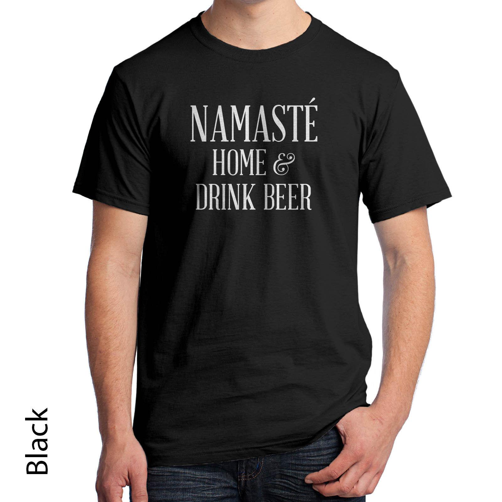 b0f4fc45ea Namaste Home And Drink Beer T Shirt Men'S Yoga Shirt I'D Rather Relax 983  Funny Unisex Casual Top Shirt Unique T Shirts For Sale Design 1 T Shirt  From ...