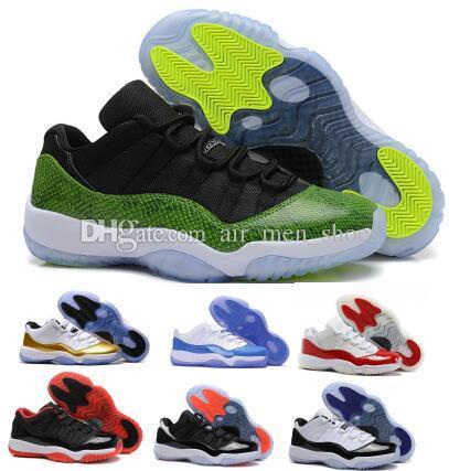 Acquista Scarpe Da Basket 2019 11 11s Sneaker Low Uomo Donna Green Bred Space  Jams Emerald Concord Barons Infrarossi XI Hombre Airing Baskets Ball Shoes  A ... a3333c31e06