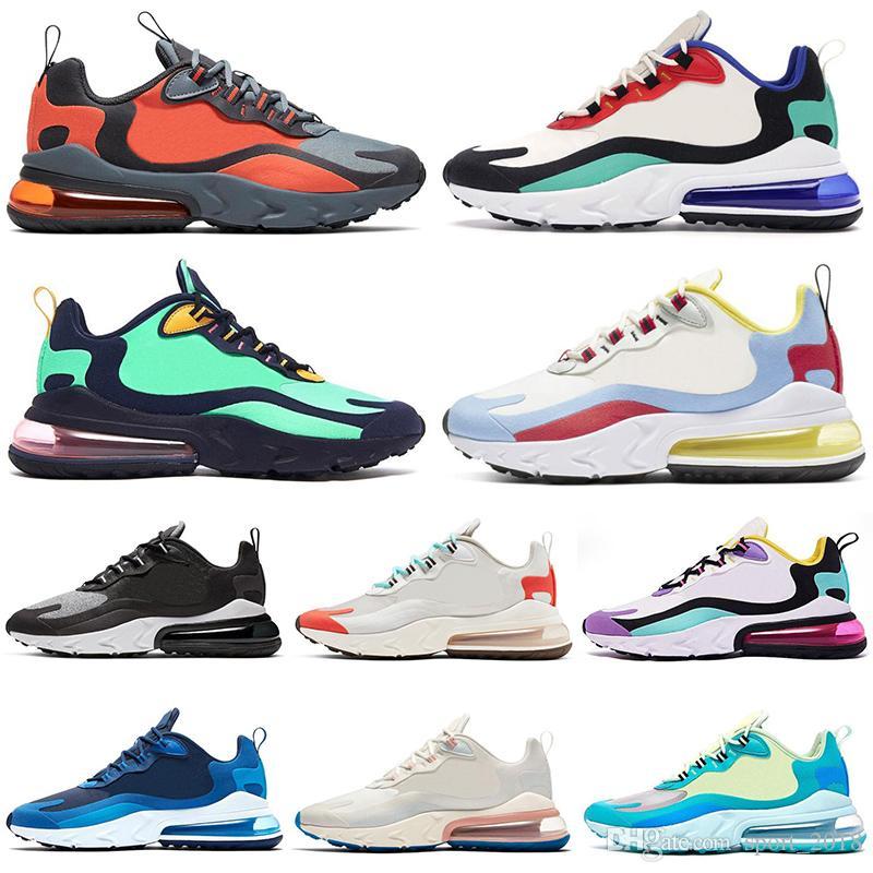 Nike air max 270 react Nouvelle arrivée React Chaussures de course BAUHAUS hommes femmes orange gris HYPER JADE OPTIQUE Beige ELECTRO VERT baskets de