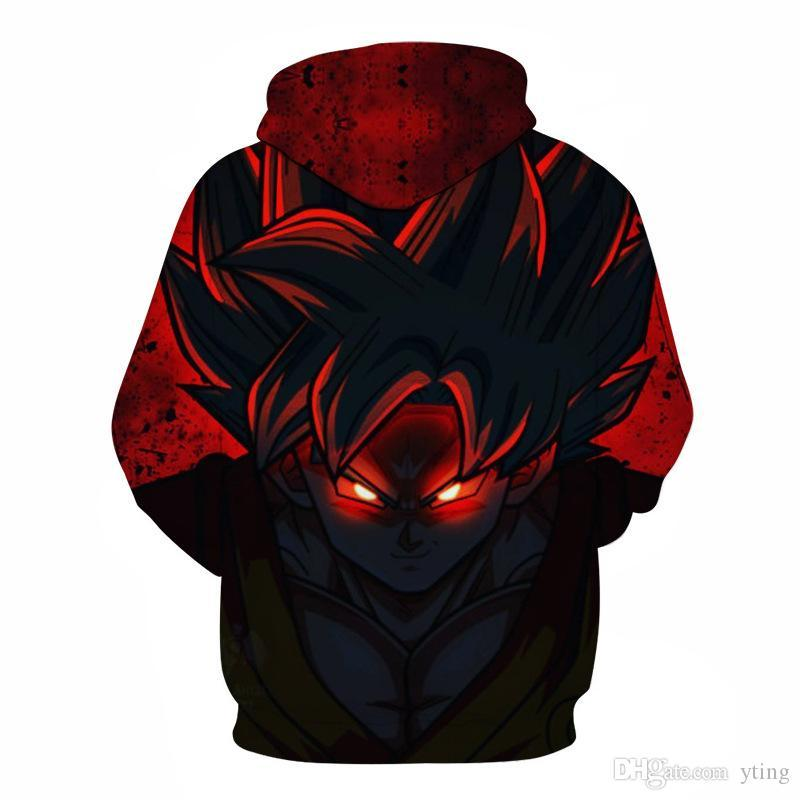 Anime Dragon Ball 3d Hooded Sweater Men Cartoon Europe and America sweater 6 styles plus size s-6xl free shipping