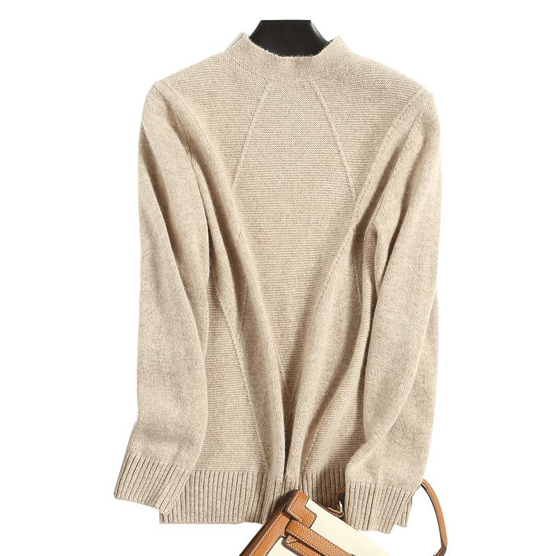 a1413254388 2019 Autumn Women S Sweater High Quality Fashion Pullover Casual Solid  Color Turtleneck Sweater Fall Winter Cashmere Wool Soft UK 2019 From  Layette66