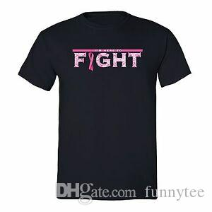 Fight Breast Cancer awareness T-shirt Hope PINK Ribbon survivor support Tshirt