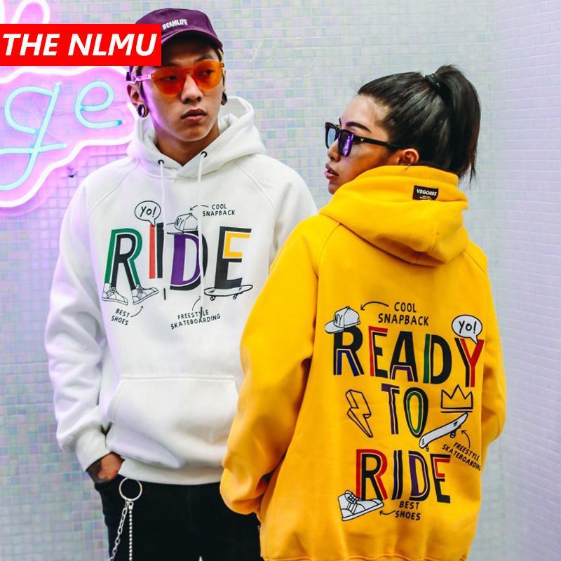 0b88da0ef 2019 Letter Printed Hoodie Sweatshirt Men Women Winter Fleece Hooded  Pullover Mens Hip Hop Streetwear Fashion Hoodies Yellow WE283 From Primali,  ...