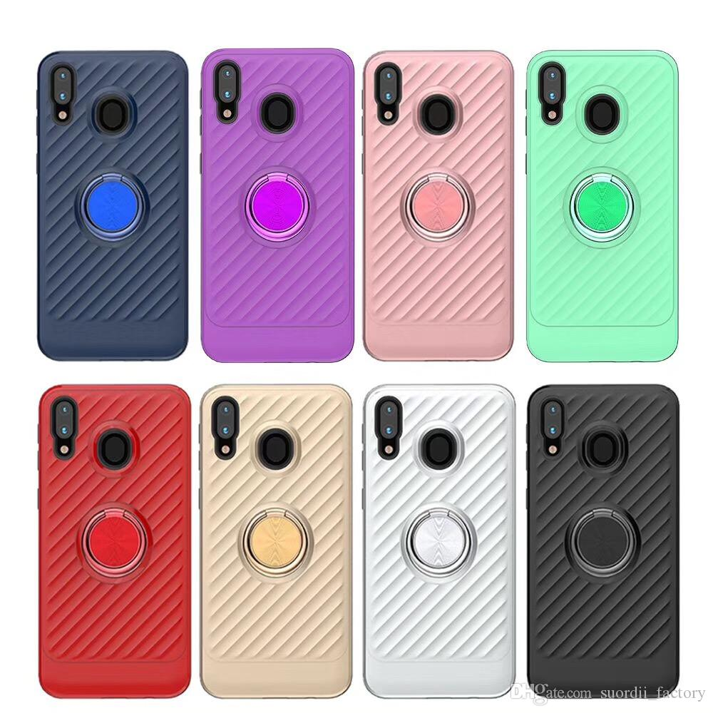 For Samsung Galaxy A10 A20E A30 A50 A80 90 Note 9 Shockproof Armor Hybrid 360 Degree ring Case